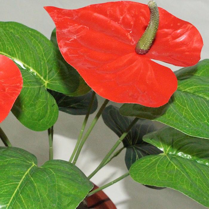 仿真红掌盆栽价格_仿真红掌批发价_室内客厅仿真植物