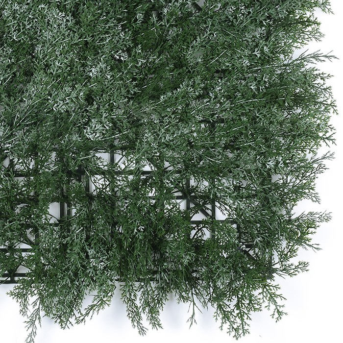 柏树叶植物墙_仿真绿化草墙
