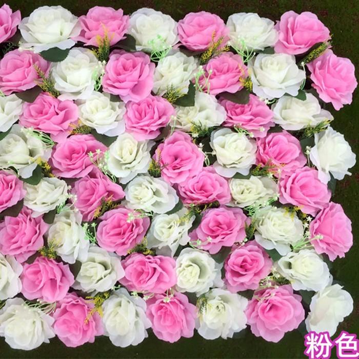 新款玫瑰花排_仿真玫瑰花墙批发_婚礼花墙布置图片