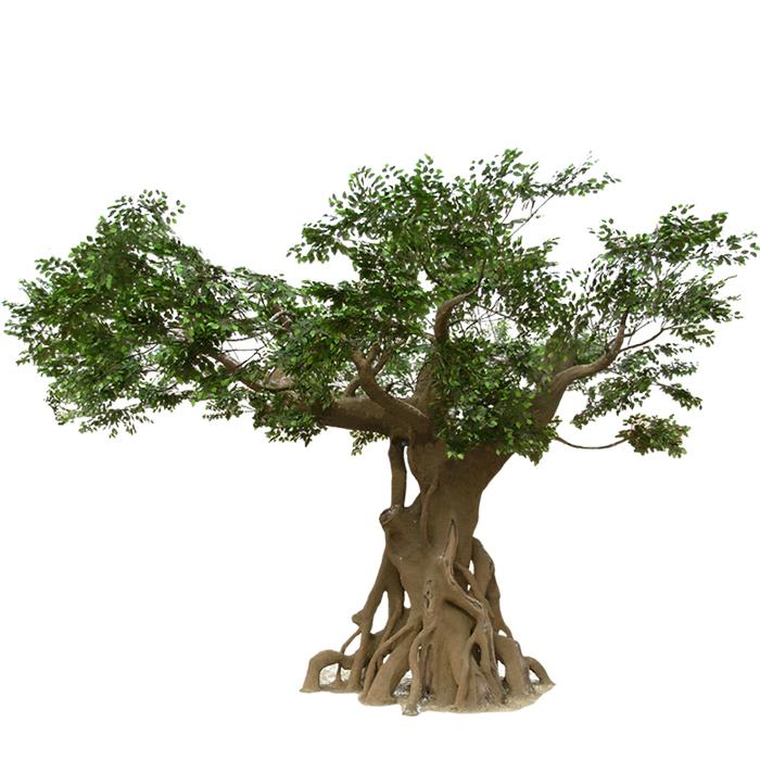 仿真榕树厂家 大型仿真树批发 仿真榕树叶制作