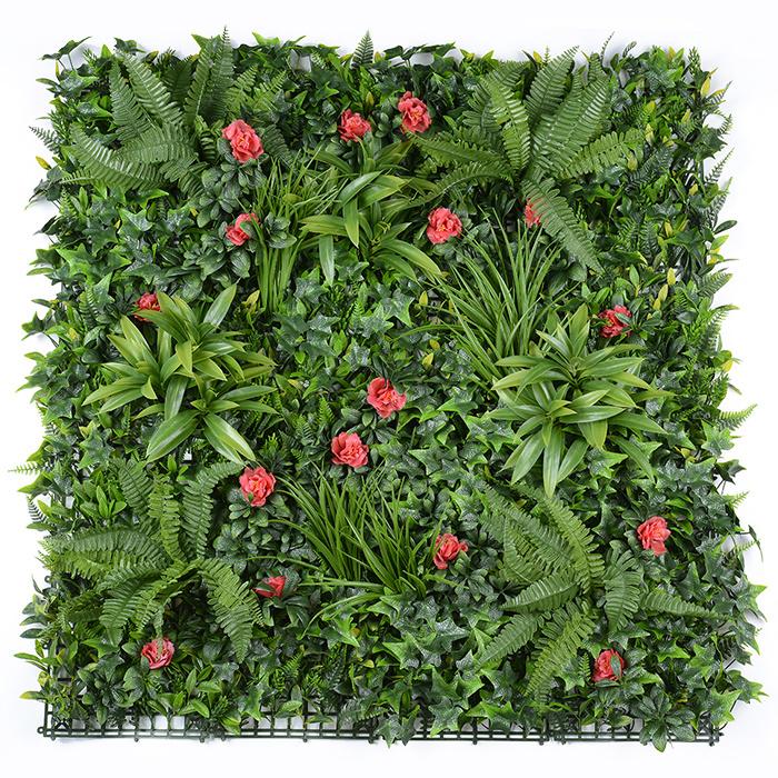 花团锦簇款仿真草墙_仿真绿化草墙