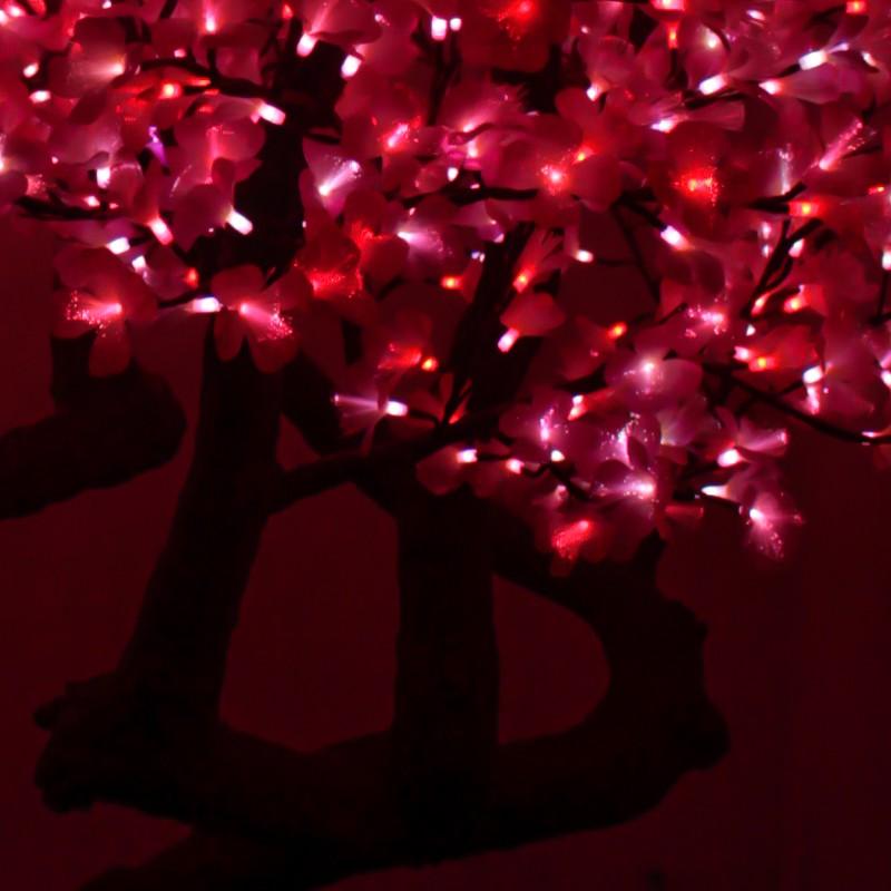 直销LED水晶银杏树_新款高仿银杏灯树_LED仿真树灯