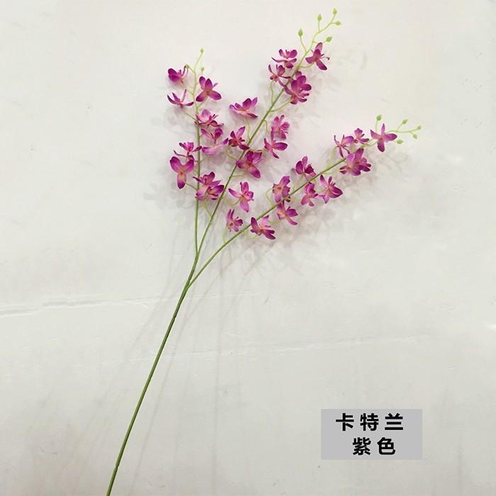 仿真花厂家批发_3叉卡特兰_客厅假花仿真花盆景