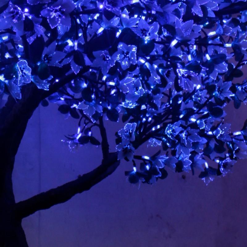 蓝色LED玉兰花树_直销光纤玉兰花树_仿真灯树