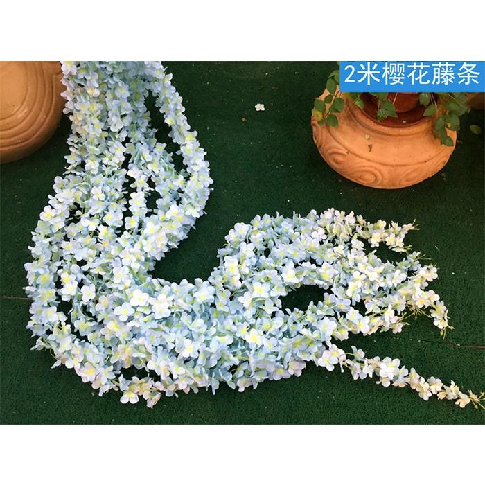 2米樱花藤条_人造樱花藤条厂家直销_仿真樱花装饰效果图