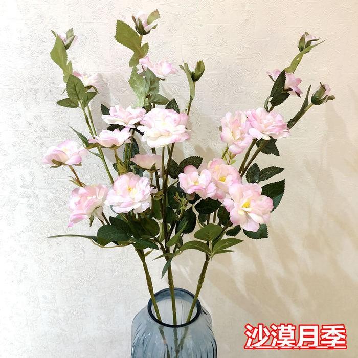 沙漠月季花_仿真月季花批发价格_仿真植物公司