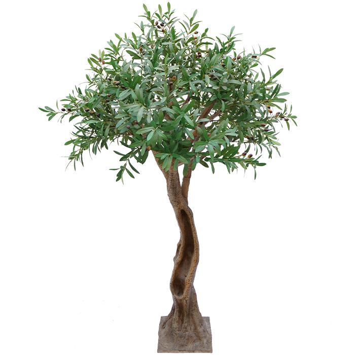 小型室内仿真橄榄树_仿真盆栽树
