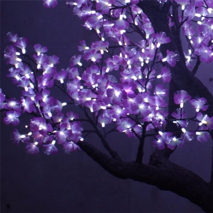 led仿真树灯生产厂家 紫色仿真银杏树灯价格