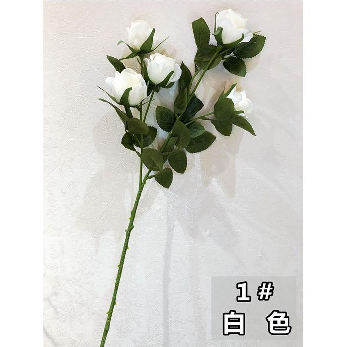 5头珍珠玫瑰花_仿真玫瑰花厂家直销