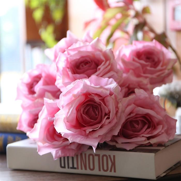 7头圣安娜大玫瑰_仿真玫瑰花厂家批发价格