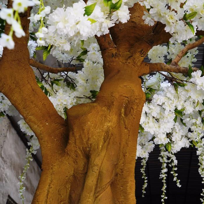 白色仿真樱花树 藤条装樱花树 仿真紫藤花树