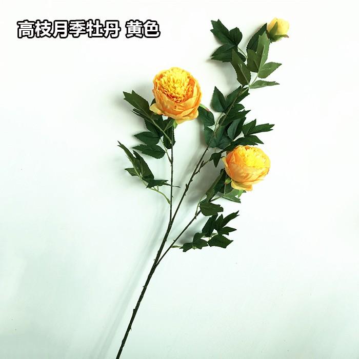 高枝月季牡丹花_仿真牡丹花厂家批发