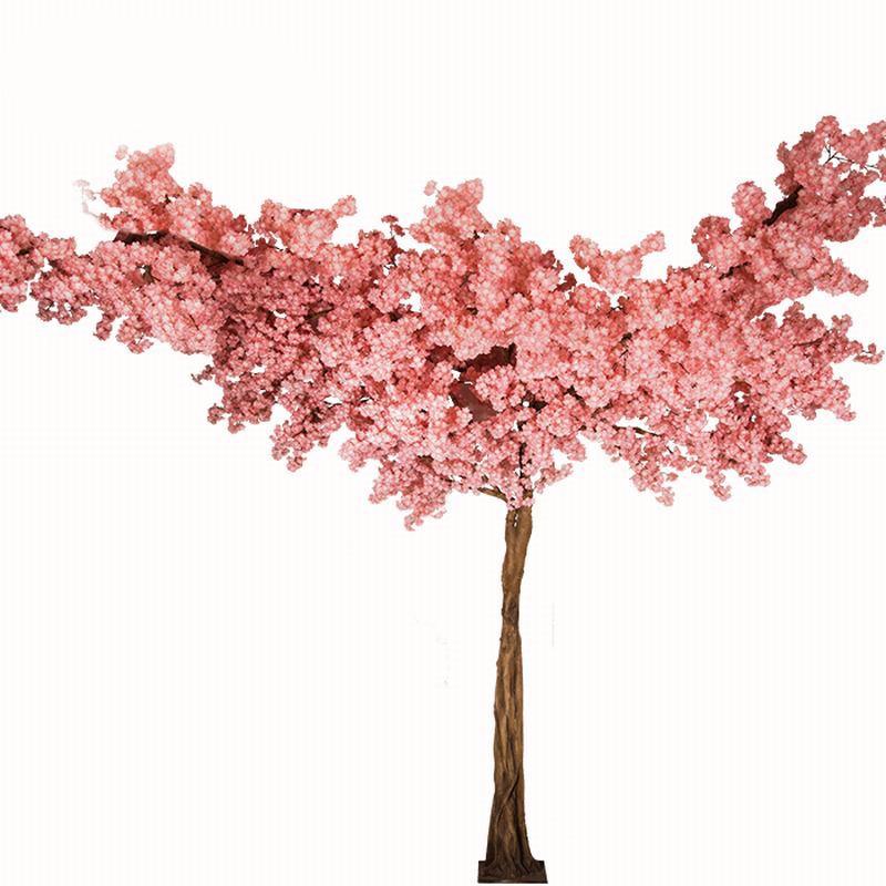 室内仿真樱花树_室内小型仿真樱花树厂家_仿真樱花装饰效果图