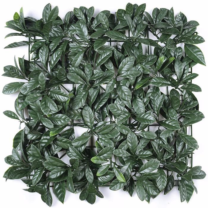 桂花叶植物墙_人造草坪人工假草皮绿植墙