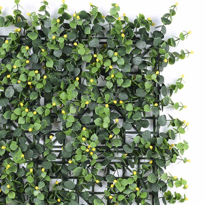 人造绿植墙生产厂家_黄果金丝桃垂直绿化墙装饰批发