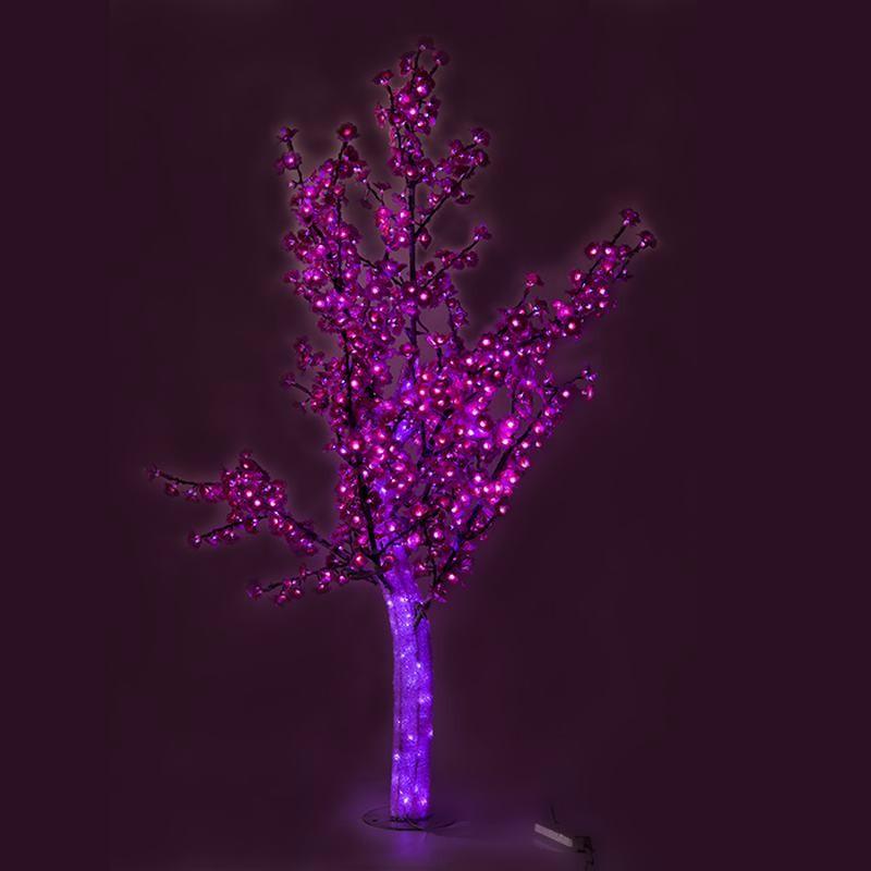 LED灯光树粉色 LED仿真桃花树灯_仿真灯树_led仿真树灯