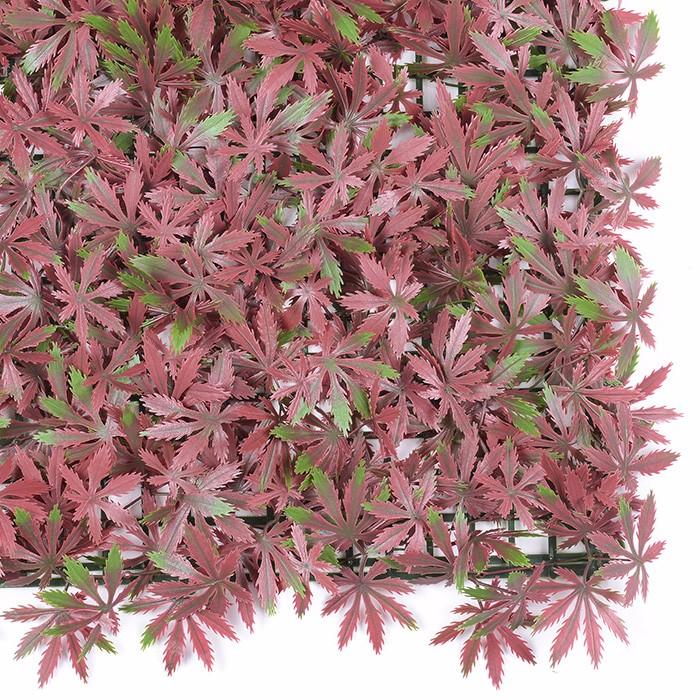 红枫叶仿真植物墙厂家_红枫叶立体绿化墙