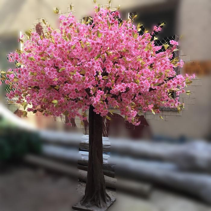 仿真圆形樱花树_假樱花树制作_樱花树的价格